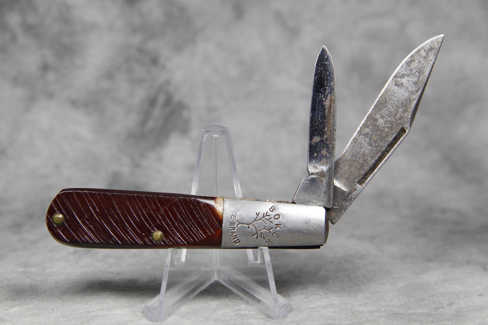Vintage BOKER TREE BRAND 493 Sawcut Barlow Pocket Knife