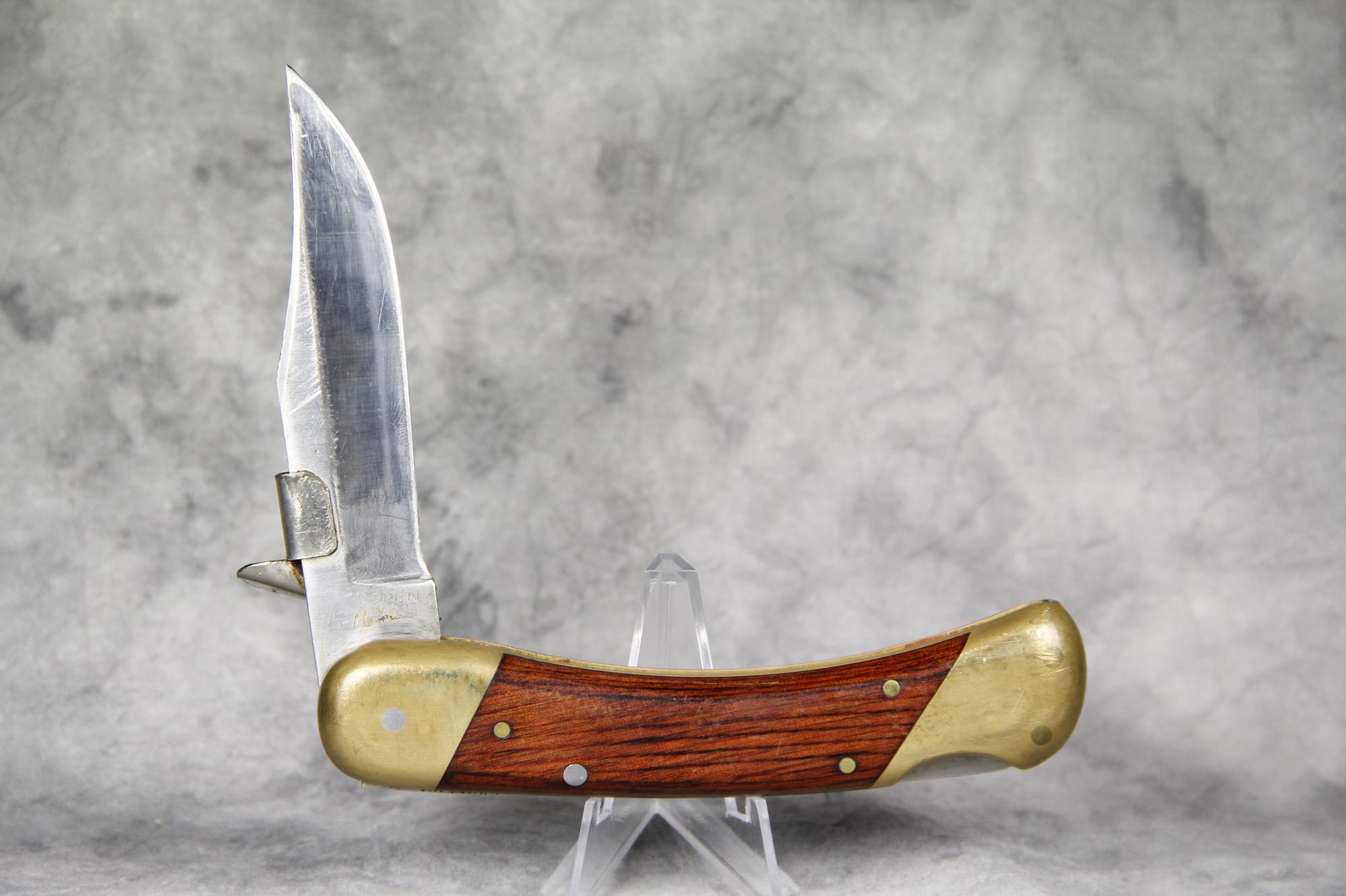 Schrade LB7 нож 4 Pin Lockback серийный #F около с