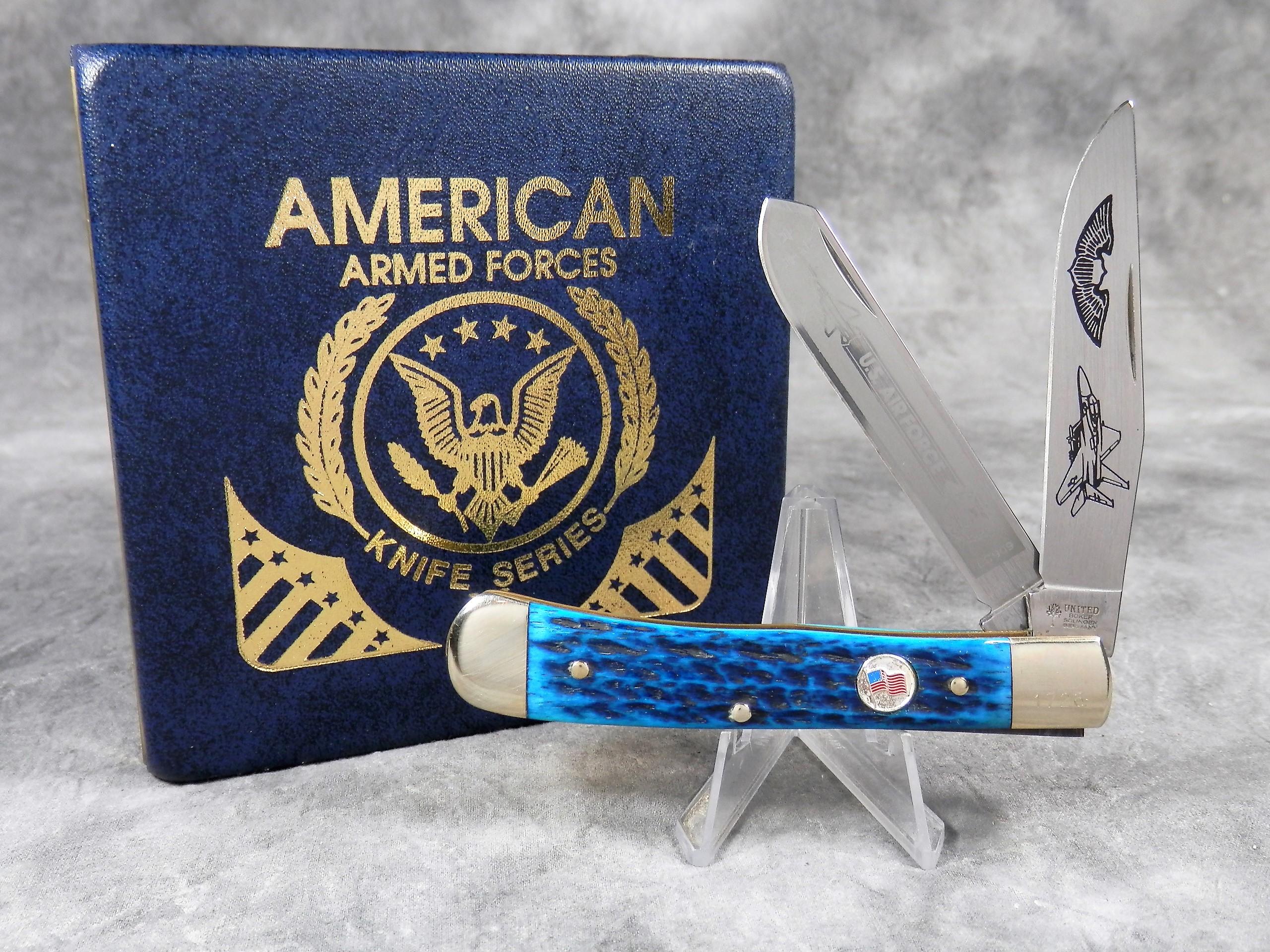UNITED BOKER UC909 Limited Ed  Blue Bone US Air Force Commemorative