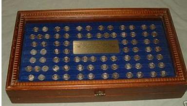 franklin mint presidential mini coin set value