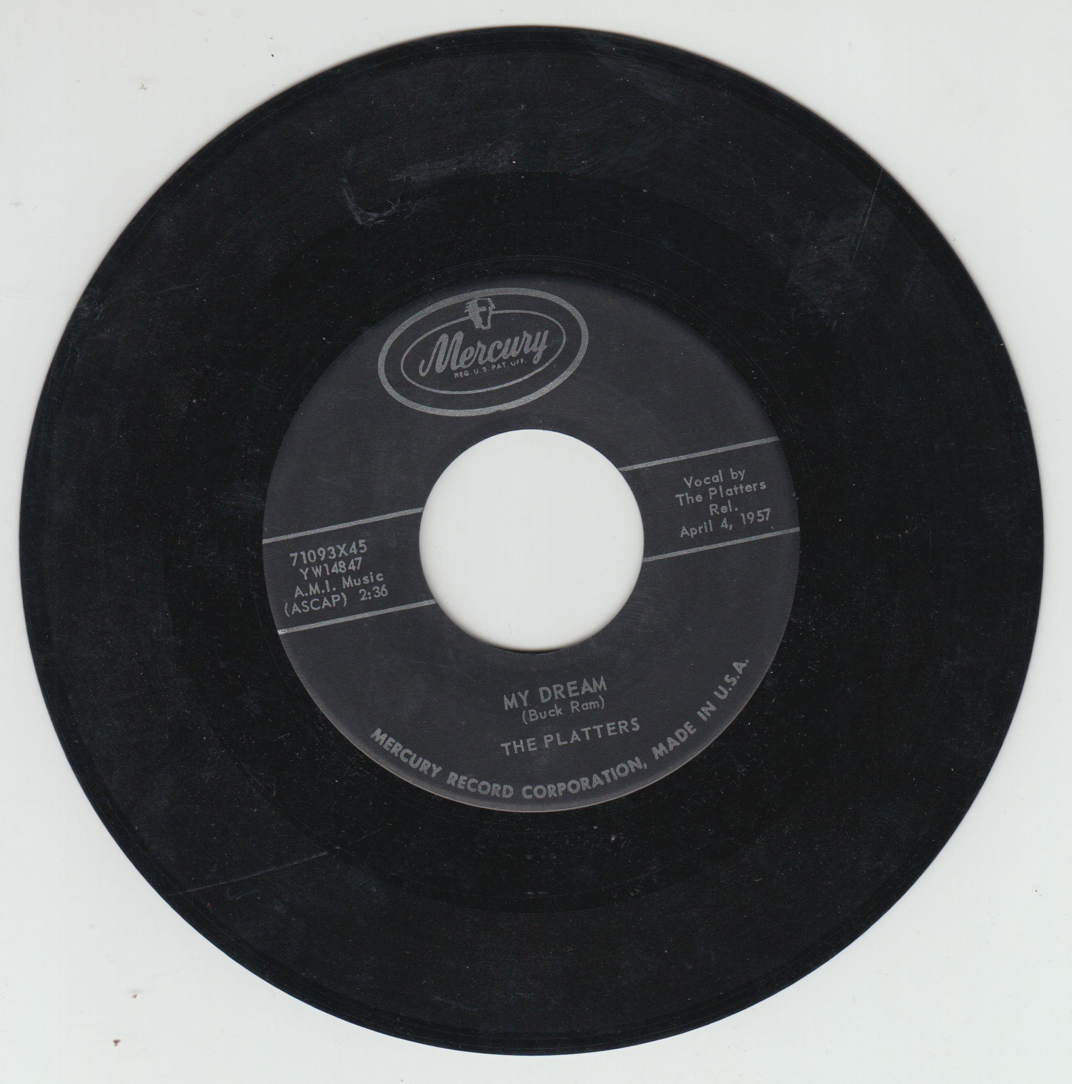 The Platters I Wanna Mercury 71093x45 1957 45 Rpm Doo